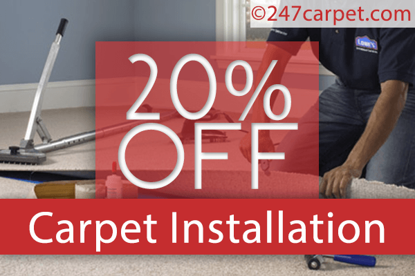 Special Deal for Any New Carpet with Installation